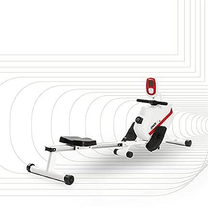 SportPlus Máquina de Remo Fitness para Uso Interior – Incluye Receptor de Ritmo Cardíaco de 5 kHz en de Remo – Máquina de Remo Plegable – Máx. Peso Usuario 150 Kg