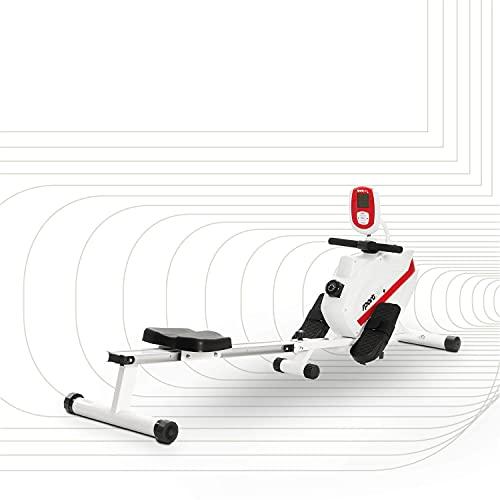 Sportplus rameur d'appartement Pliable, certifié par Le Label Allemand TÜV, système de Frein magnétique Silencieux et sans Entretien, siège à...