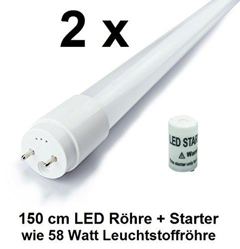 2 x 22 Watt LED Röhre T8 / G13 - 150 cm, Kaltweiß, wie 58 Watt Leuchtstoffröhre