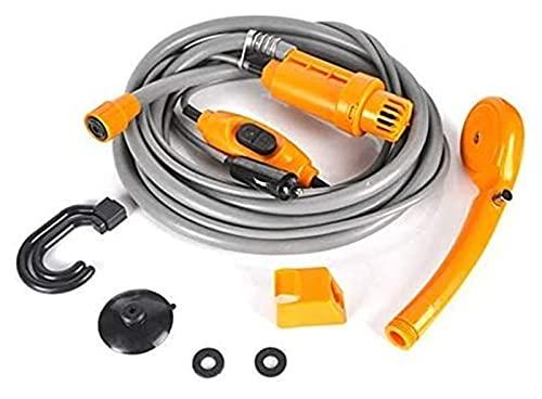 JeeKoudy Ducha al Aire Libre Lavadora de automóviles portátil Camping Ducha Bomba eléctrica Bomba de Coches Ducha Lavadora Conjunto (Color : Orange)