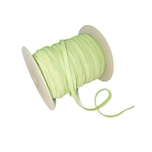 Flat Elastic Bands for Sewing-30 Yards 1/8inch Elastic Cord,Elastic Strap,Elastic Ribbon,Thin Elastic,Elastic String for Masks DIY Crafts(Green)