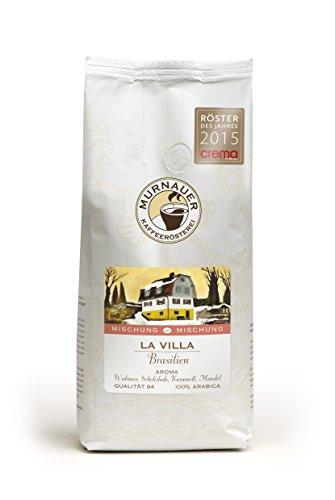 Murnauer Kaffeerösterei LA VILLA - Espressobohnen aus Brasilien - Premium Kaffee - von Hand frisch & schonend geröstet - Espresso und Filterkaffee - 250g ganze Bohnen