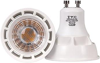ECO Lights LED Bulb, Thermal Plastic, GU10, 50 W, Warm White, Pack of 4
