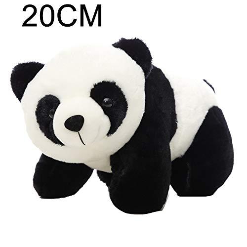 Kuizhiren1 Muñeca de peluche de peluche, lindo oso panda de peluche, juguete de peluche, almohada de juguete para niños, novia, regalo para decoración del hogar 20 cm
