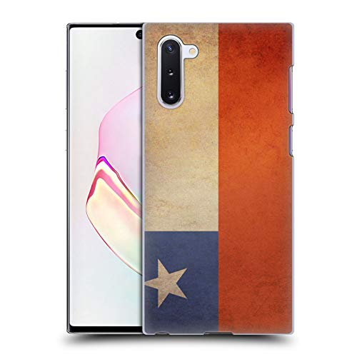 Head Case Designs Chile Chilenisch Vintage Fahnen 3 Harte Rueckseiten Huelle kompatibel mit Samsung Galaxy Note10 / 5G
