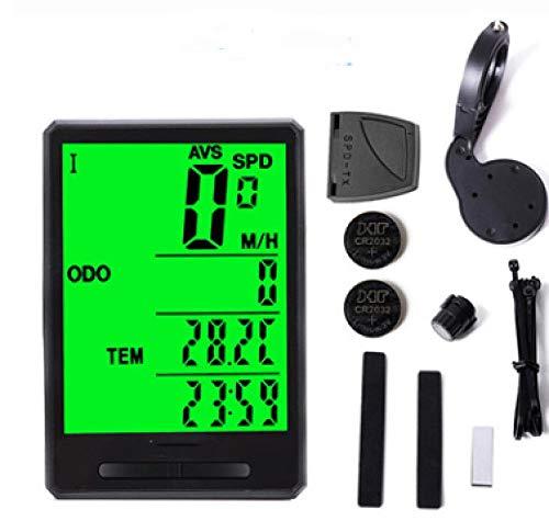 N / A Bike Computer, Bike Veloc¨ªmetro con LCD Luminous, Bike Computer Wireless