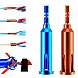 Wire Stripping and Twisting Tool, Upgrade Wire Nut Twister Wire Stripper, Wire Terminals Power Tools Electrician Tools for Stripping and Twisting Wire Cable, Both Manual & Electric(2 Pack)
