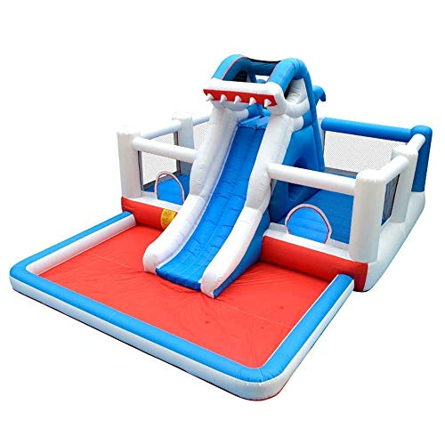 BSJZ Castillo Hinchable Inflable para niños, trampolín, Castillo para el hogar, colchón de Aire para Interiores y Exteriores, Cama, Parque, Saltos para Interiores y