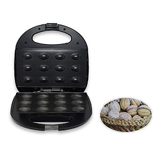 Gofrera Eléctrica Mini Nuez Panadero Pan De Molde Máquina De Emparedado De Gofres Para Tostadora Horneando, Desayuno, Cocina, Pan Oven