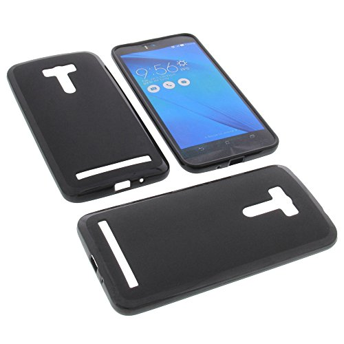 foto-kontor Tasche für Asus ZenFone Selfie ZD551KL Gummi TPU Schutz Hülle Handytasche schwarz