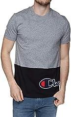 Camiseta Champion Crewneck Cuello Caja Gris/Negro para Hombre - 214208-em525