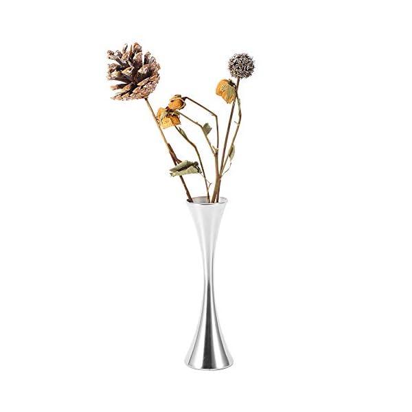 Florero, arreglo floral moderno Decoración individual de la mesa de la boda con acero inoxidable