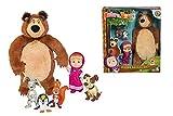 Simba 109301073 Mascha und der Bär Set Plüschbär + Puppe + Tiere