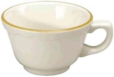 Buffalo Manhattan Gold Porcelain Cups 7.25 oz (Set of 36) by Oneida