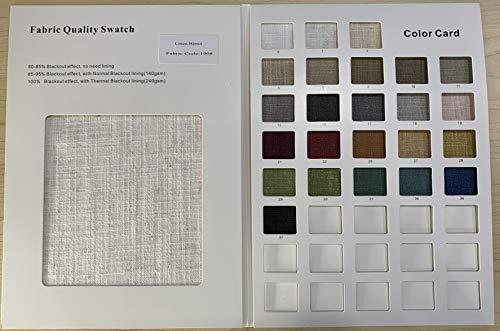 Cololeaf Faux Linen Liz Collection Fabric Sample Fabric Color Book Rich Colors