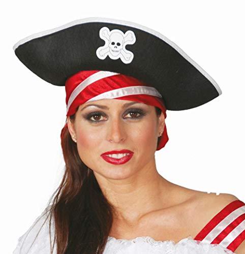 Guirca SL. Chapeau de piratessa aulto, noir, 13554 - version italienne