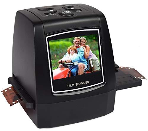 Elikliv Escáner de Negativos 35mm, Escáneres de Diapositivas con Pantalla LCD Visor de Película Monocromo a JPEG