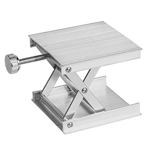 Hebebühne stabil 90 x 83 mm verstellbar Scherenständer Labor Ständer Professionelles Messwerkzeug für Wissenschaft Experiment Universal Level Zubehör Tisch Aluminiumlegierung Labor