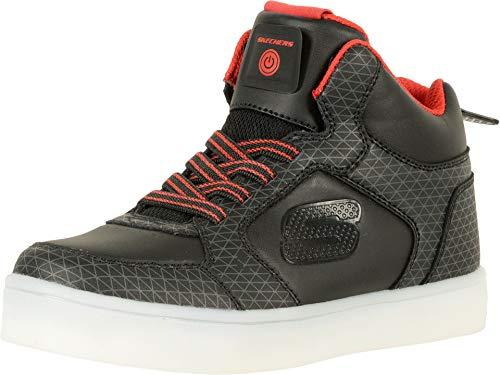 Skechers Jungen Energy Lights Tarvos Sneaker, Schwarz (Black/Red), 31 EU