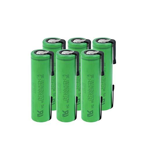 CNMMGL 3.6v 2600mah 18650 35a Batería Genuina Us18650vtc5a, BateríAs Recargables De Litio para Soldadura, Batería De Hoja De níQuel para Linterna 6PCS