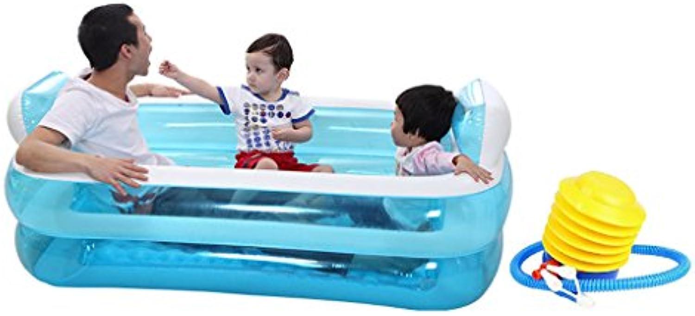 MMM@ Aufblasbare Badewanne Thicker Erwachsenen Badewanne Fold Badewanne Badewanne Waschtisch Badewanne Badewanne Badewanne (Farbe   Blau2)