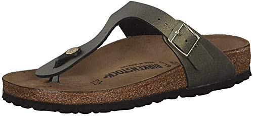 BIRKENSTOCK 1014286 Gizeh BF normal Sandalen, Icy Metallic Stone Gold, 38 EU
