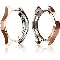 Cerike Funda para Samsung Galaxy Watch 42mm de Parachoques, Protector Accesorios de Marco Resistente a la compresión de TPU para Reloj Samsung Galaxy Watch 42mm(42mm, Rose Gold)