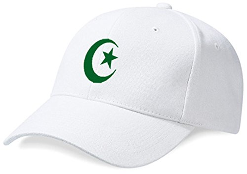 DASHOP Casquette Algérie Blanc et Vert Émeraude