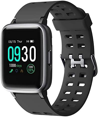 Willful Smart Watch for Android Phones Compatible iPhone Samsung IP68 Swimming Waterproof Smartwatch Sports Watch Fitness Tracker Heart Rate Monitor Digital Watch Smart Watches for Men Women Black