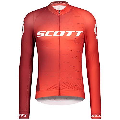 Scott RC Pro Fahrrad Trikot lang rot/weiß 2021: Größe: M (46/48)