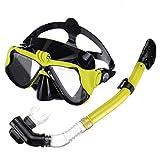 Máscara del tubo respirador sin marco, Máscara secos de la parte del tubo respirador, buceo con máscara de buceo snorkel, anti-niebla anti-fugas Snorkel Buceo máscara de respiración segura, Gafas de n