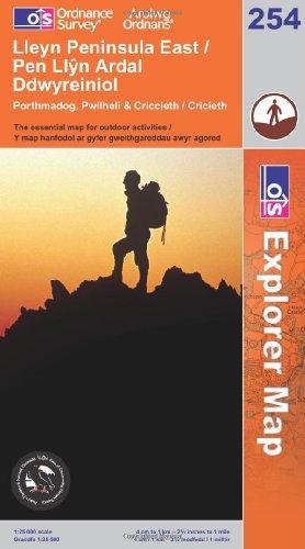 OS Explorer map 254 : Lleyn Peninsula East / Pen Llŷn Ardal Ddwyreiniol
