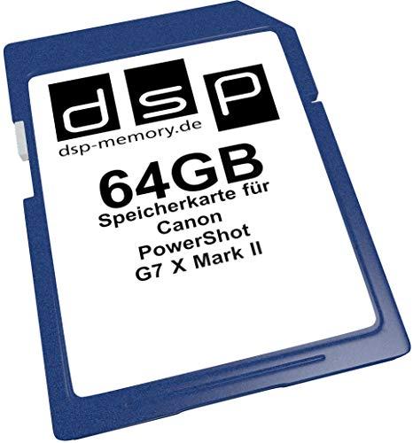 DSP Memory 64GB Speicherkarte für Canon PowerShot G7 X Mark II