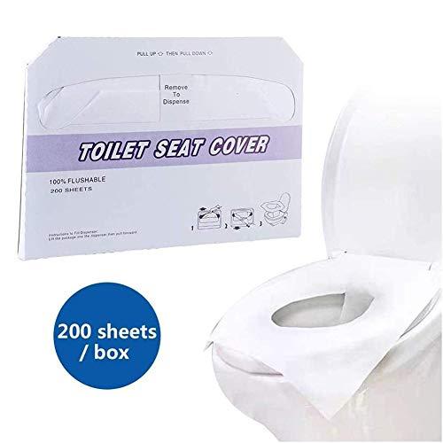SJZJ Wegwerp toiletpapier toiletkussen zitkussen, oplosbaar water privé toiletkussen Cover Papier, waterdichte antibacteriële deodorant Hygiënebeheer wegvoeren reizen