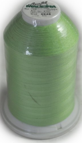 Best Buy! Madeira Aerofil 5000yd Sewing Thread - Lt Green 91278648