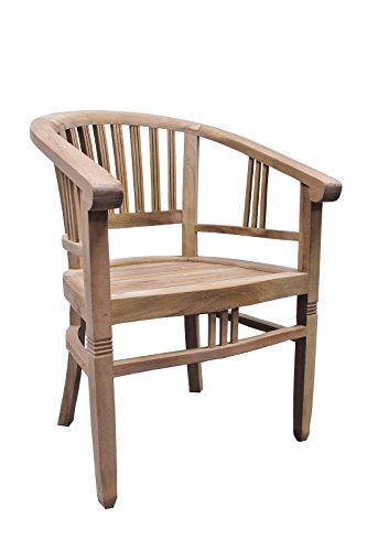 2er Set Teak-Town Teak Armlehnstuhl SE24-2 Teakholz Antik Massiv 87x62x62cm Stuhl Gartenstuhl Sessel Möbel