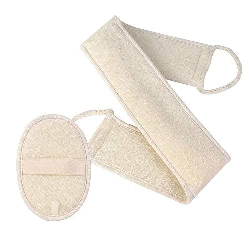 Lot de 2 éponges exfoliantes pour le dos et le bain - Double face - Soulage l'acné