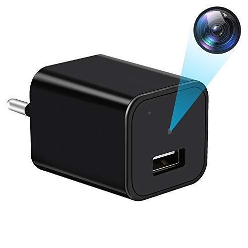 Mini Cámara Espía Oculta Cargador, UYIKOO Cargador con Camara, 1080P HD Portátil...