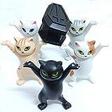 Creativo y divertido ataúd portador de gato 5 estilos de ataúd portador de bolígrafo para gato y papelería