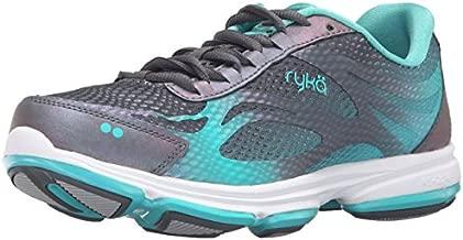 Ryka Women's Devotion Plus 2 Walking Shoe, Grey/Teal, 7 M US