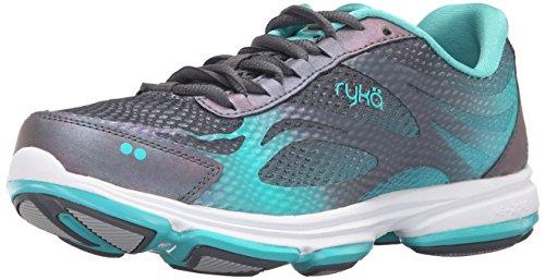 Ryka womens Devotion Plus 2 Walking Shoe, Grey/Teal, 8.5 US