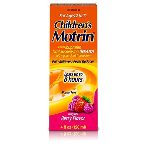 Children's Motrin Oral Suspension, Pain Relief, Ibuprofen, Berry Flavored, 4 Oz