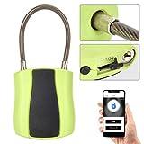 Pbzydu Intelligentes Vorhängeschloss, Bluetooth Keyless USB Telefon mit geringer Leistungsaufnahme APP Sperre für Aktenschrank(Grün)