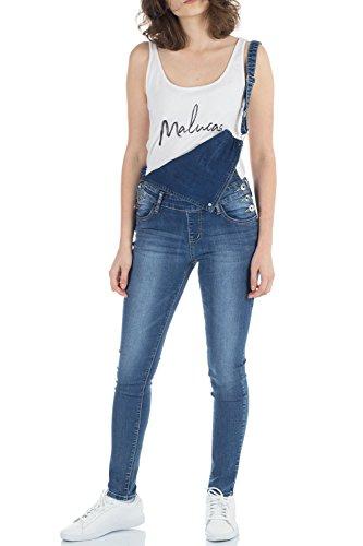 Malucas Damen Jeans Latzhose Latzjeans Overall Jumpsuit Hose Skinny Slim Fit Stretch 00440| Größe:36| Farbe:Blau | Bekleidung > Jeans > Latzjeans | Malucas