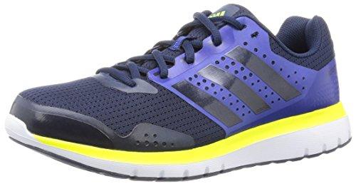 adidas Herren Duramo 7 Sportschuh, blau/lila/Fluo gelb, 44 EU