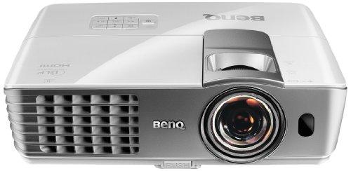 BenQ W1080ST Kurzdistanz DLP-Projektor (3D, Kontrast 10000:1, Full HD, 1920 x 1080 Pixel, 2000 ANSI Lumen, HDMI) weiß