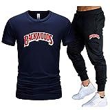 GIRLXV Camiseta De Backwoods para Hombre Camisa De Traje Estampada Pantalones Casuales Sudadera Que Absorbe La Humedad De Manga Superior De Gran Tamaño XL