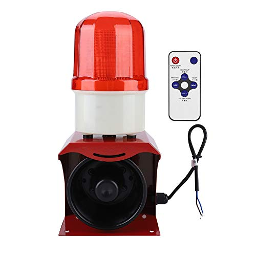 Purchase Horn Siren Alarm, 12-24V Sound Warning Alarm Speaker, Waterproof LEDs Flash 110dB Sound War...