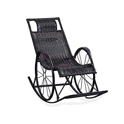 FYMDHB886 Enkele bank Buitenbank Balkon ligstoel Schommelstoel Napstoel Luie woonkamerstoel Kinderstoel loungestoel Eenvoudige stoel Rotan schommelstoel, Size, A