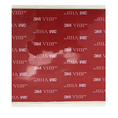 3M VHB 5952 Heavy Duty Montageband Schwarz Acrylic Foam doppelseitiges Klebeband | Größe: 10cm x 10cm | Stärke: 1,1 mm | Farbe: Schwarz | Very High Bond | anstelle von Nieten, Schrauben und andere mechanische Fixierung | Wasserdicht | Pressure Sensitive